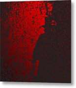 Jack The Ripper In Red Light Metal Print
