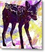 Jackal Children Watercolor Animal  Metal Print