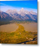 Jackson Hole Wy Tetons National Park Views Metal Print
