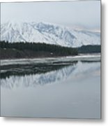 Jackson Lake Ice Metal Print