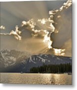 Jackson Lake Sunset View Metal Print