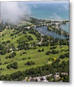 Jackson Park Golf Course In Chicago Aerial Photo Metal Print