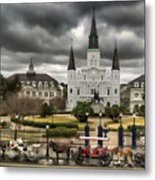 Jackson Square New Orleans Metal Print