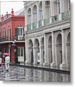 Jackson Square Rainy Day  Metal Print