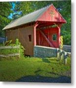 Jackson's Mill Covered Bridge Metal Print