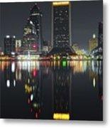 Jacksonville Black Night Lights Metal Print