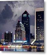 Jacksonville On A Stormy Evening Metal Print by J T