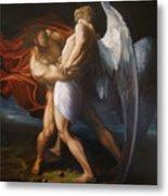 Jacob Wrestling The Angel Metal Print