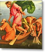 Jacopo Bassano Fishes Miracle Metal Print