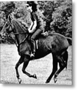 Jacqueline Kennedy, Riding A Horse Metal Print