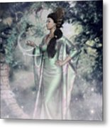 Jade Green Empress Metal Print