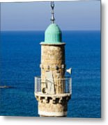 Jaffa, The Turret Of The El Baher Mosque Metal Print