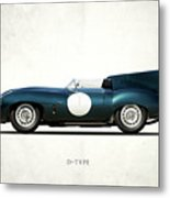 Jaguar D-type Metal Print by Mark Rogan