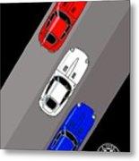 Jaguar E-type - 3 Times The Fun Metal Print