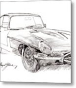 Jaguar E-type Metal Print