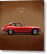 Jaguar E Type Metal Print