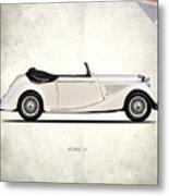 Jaguar Mark Iv Coupe Metal Print by Mark Rogan