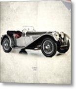 Jaguar Ss100 1936 Metal Print by Mark Rogan