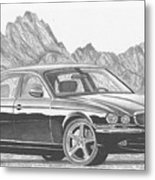 Jaguar Xj-r Sports Car Art Print Metal Print