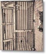 Jail House Interior Metal Print