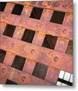 Rusty Jailhouse Door Metal Print