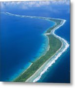 Jaluit Atoll And Lagoon Metal Print