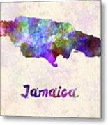 Jamaica In Watercolor Metal Print