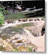 Jamaica Rushing Water Metal Print