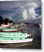 Jamaican Fishing Boats Metal Print