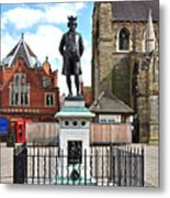 James Boswell Statue - Lichfield Metal Print