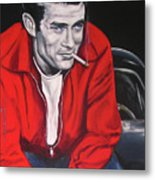 James Dean - Picture In A Picture Show Metal Print by Eric Dee