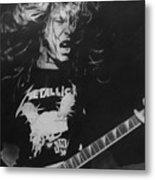 James Hetfield Pencil 1987 Metal Print