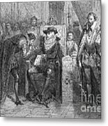 James I Appoints Bacon Lord Chancellor Metal Print