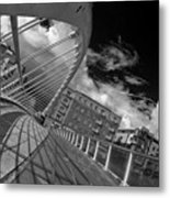 James Joyce Bridge 2 Bw Metal Print