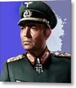 James Mason As Erwin Rommel Publicity Photo The Desert Fox 1951 Color Added 2016 Metal Print