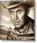 James Stewart The Far Country Metal Print