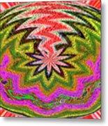 Janca Pink Color Panel Abstract #5212 Wtw6 Metal Print