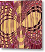 Janca Red And Yellow Abstract  Metal Print