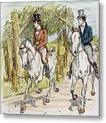 Jane Austen: Illustration Metal Print