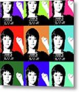 Jane Fonda Mug Shot X9 Metal Print