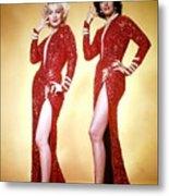 Jane Russel And Marilyn Monroe Metal Print