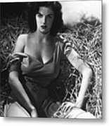 Jane Russell In The Outlaw Wow Metal Print