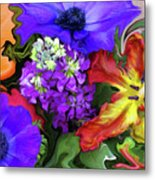 January Bouquet Metal Print