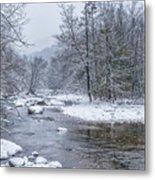 January Snow On The River Metal Print