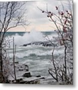 January Winds And Waves Metal Print
