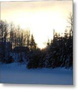 January Winter Morninng Metal Print