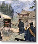 Japan: Cremation, 1890 Metal Print