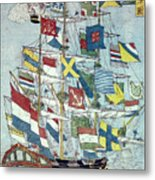 Japan: Dutch Ship Metal Print