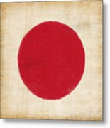 Japan Flag Metal Print