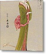 Japan: Geisha, C1794 Metal Print